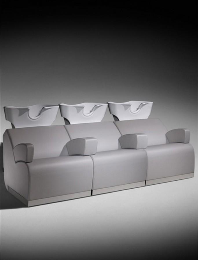 Salon Ambience Waschanlage Sofa 222 cm - CDE Salondesign