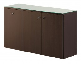 Salon Ambience Regal SERVICE CABINET 120 WENGE WITH GLASS TOP