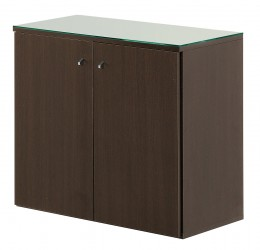 Salon Ambience Regal SERVICE CABINET 80 WENGE WITH GLASS TOP