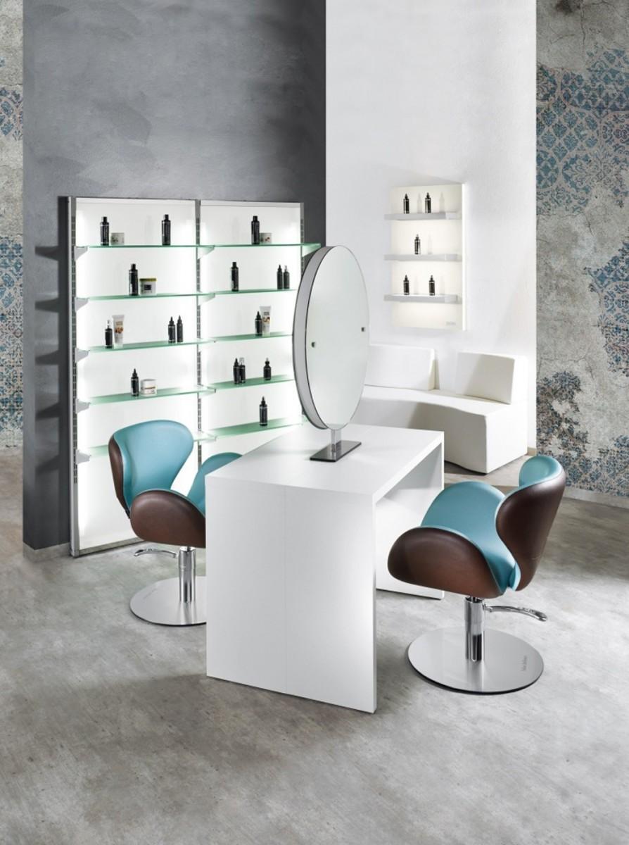 Salon ambience frisierplatz round island ii cde salondesign for Muster arredamenti parrucchieri