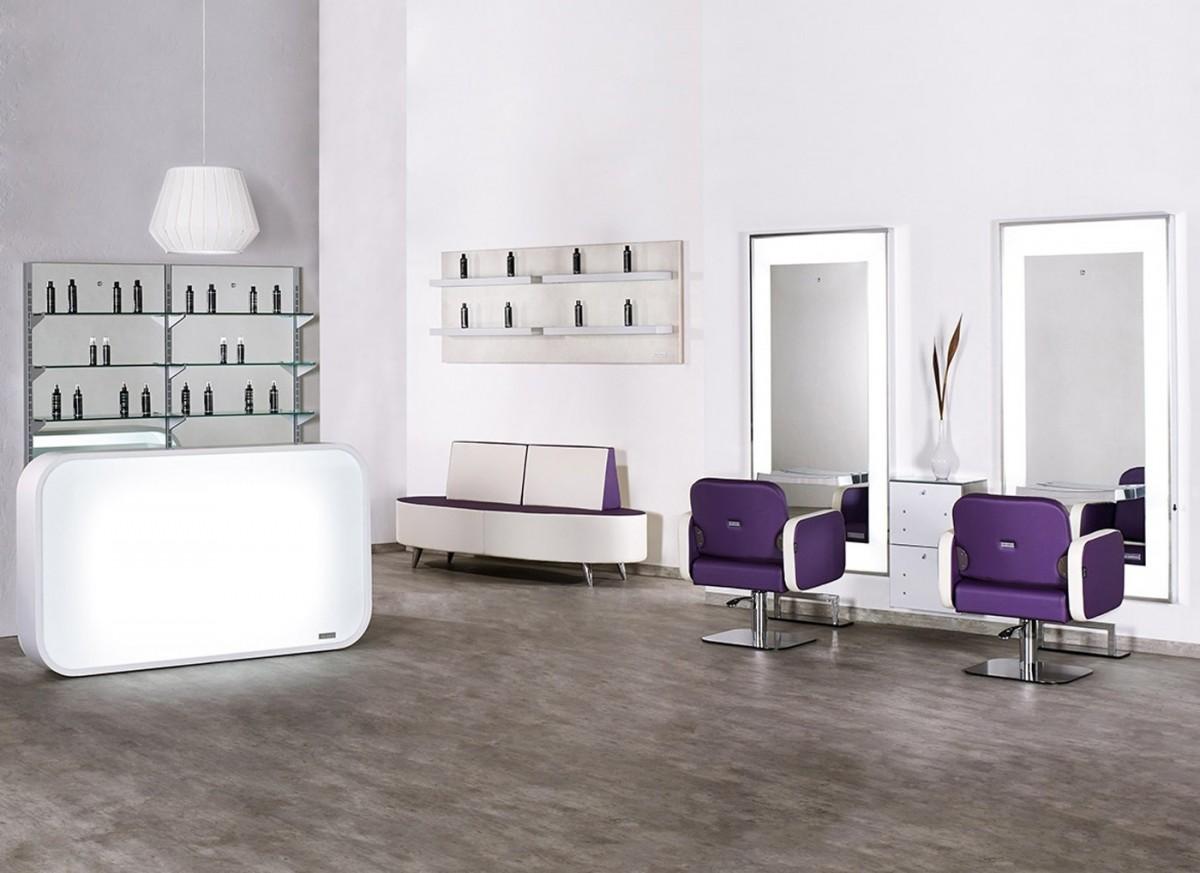 Salon Ambience Theke Matrix - CDE Salondesign